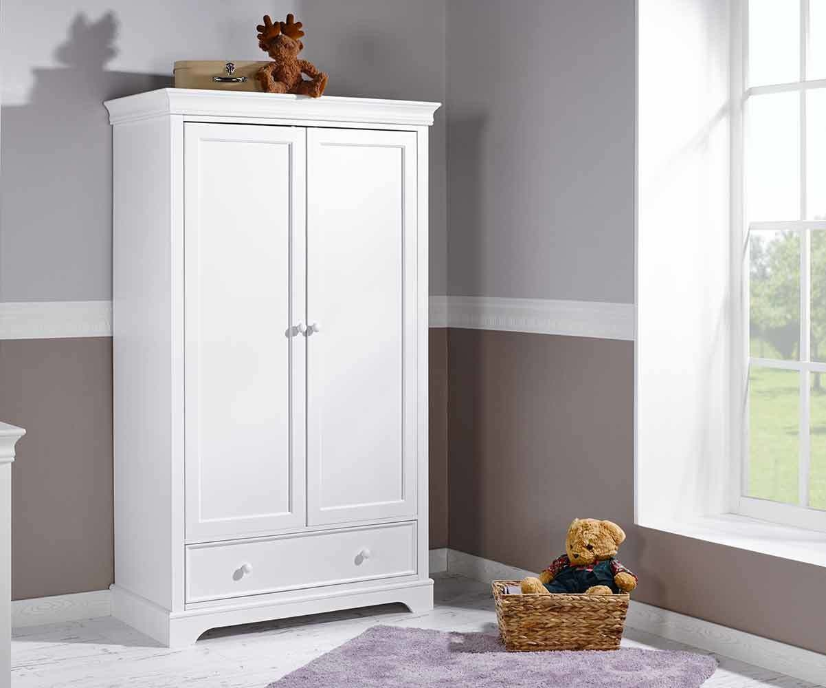 armoire b b mel blanche 2 portes achat mobilier. Black Bedroom Furniture Sets. Home Design Ideas