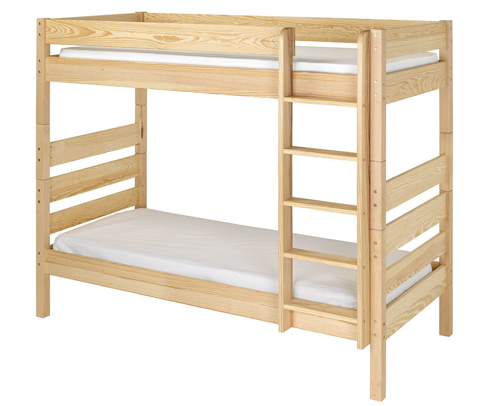 lit superpos kids naturel 90x190 cm avec sommier gigogne. Black Bedroom Furniture Sets. Home Design Ideas
