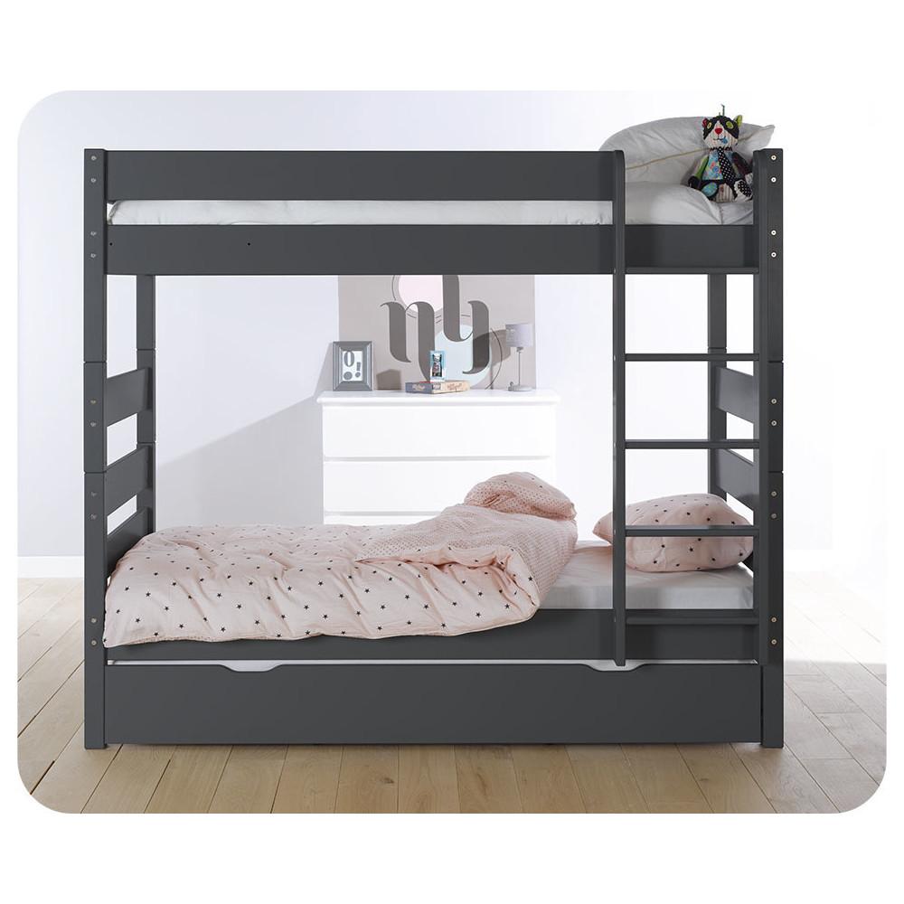 lit superpos kids gris anthracite 90x190 cm. Black Bedroom Furniture Sets. Home Design Ideas