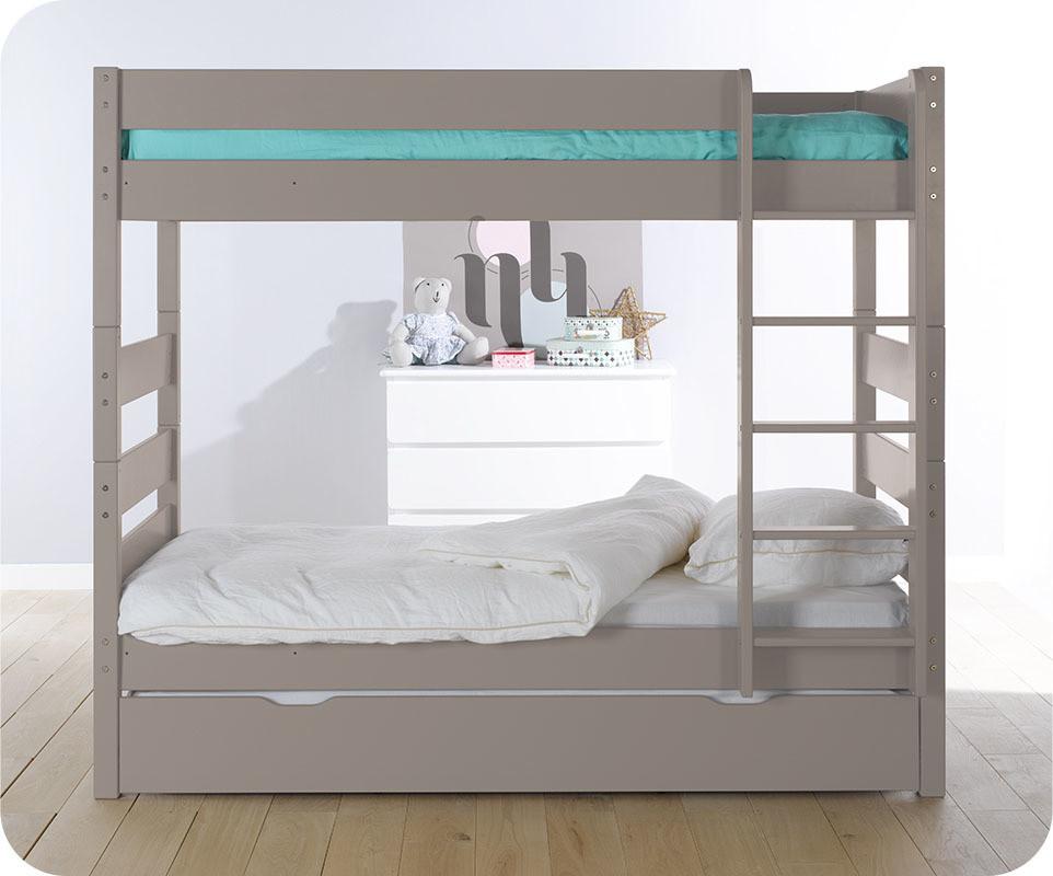pack lit superpos kids lin 90x190 cm avec 2 matelas. Black Bedroom Furniture Sets. Home Design Ideas