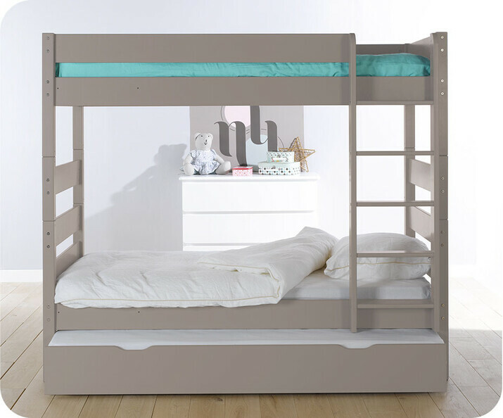 pack lit superpos kids lin 90x190 cm avec 2 matelas. Black Bedroom Furniture Sets. Home Design Ideas