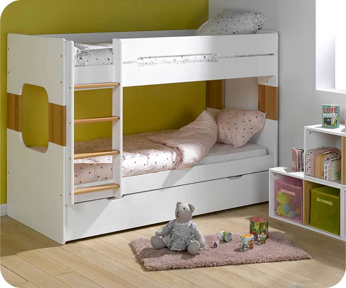 lit superpos enfant spark blanc 90x200 cm. Black Bedroom Furniture Sets. Home Design Ideas