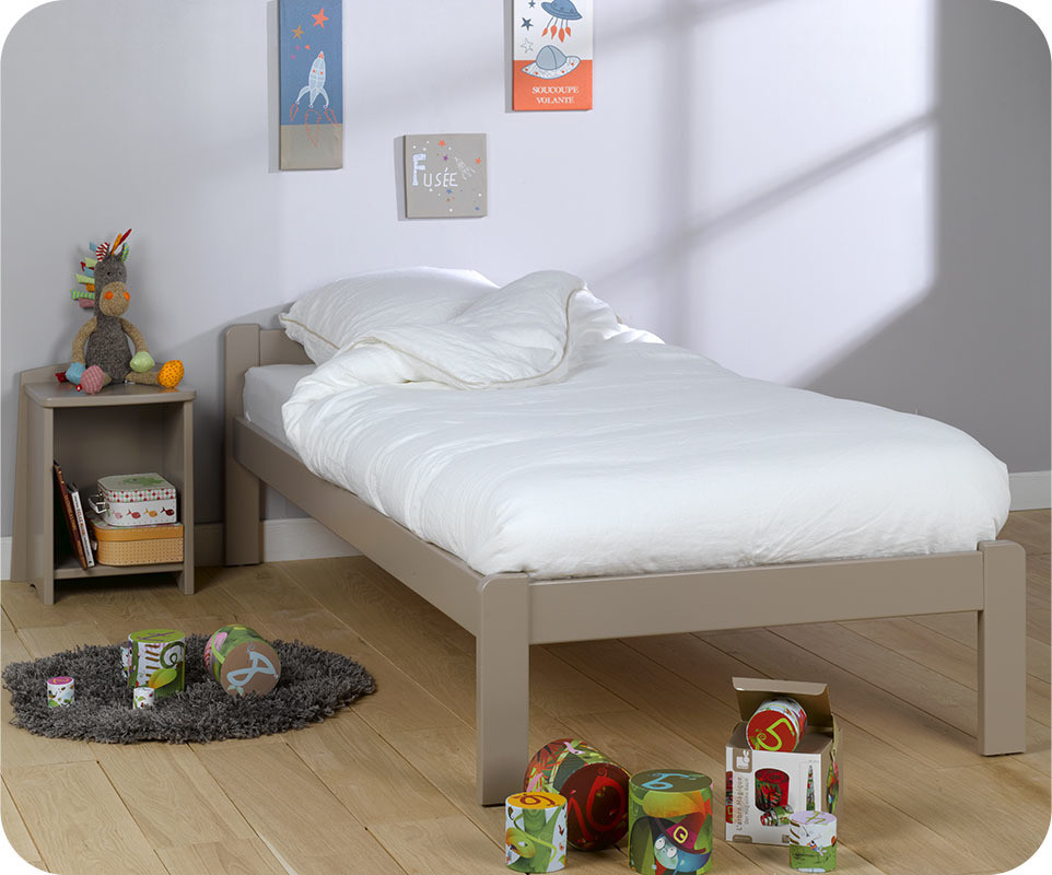 lit enfant beddy lin 90x190 cm avec matelas et sommier. Black Bedroom Furniture Sets. Home Design Ideas
