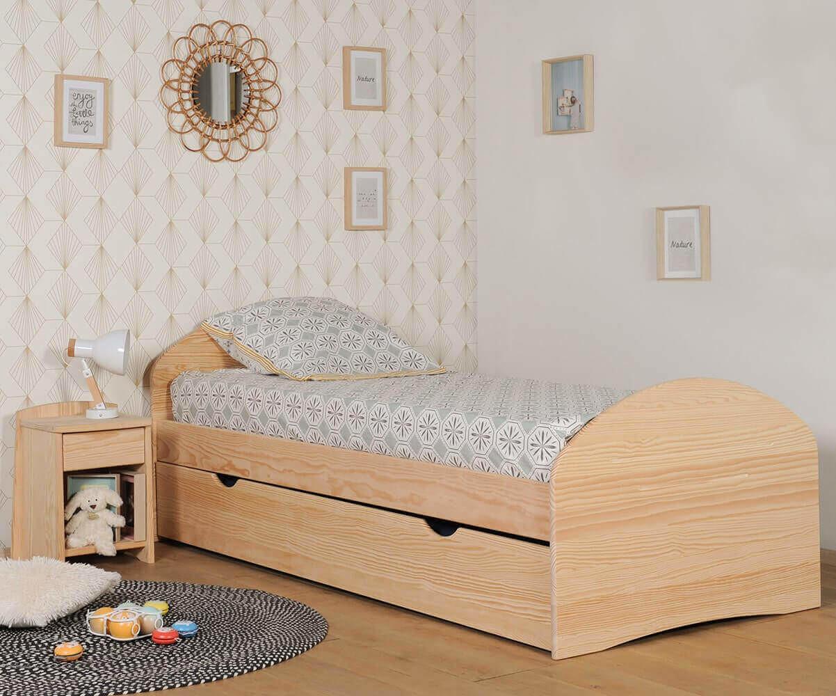 Pack lit enfant volutif spoom blanc avec tiroir de lit et - Lit evolutif solde ...