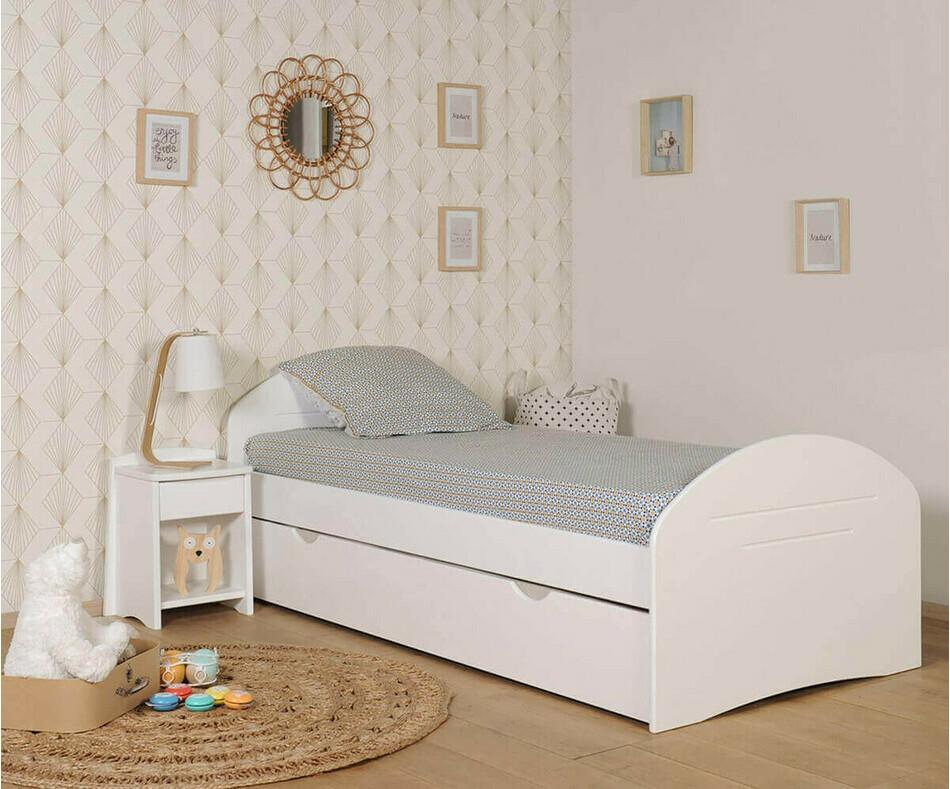pack lit enfant volutif spoom blanc avec tiroir de lit et matelas. Black Bedroom Furniture Sets. Home Design Ideas