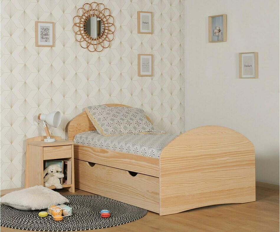 pack lit enfant volutif spoom blanc avec tiroir de lit et. Black Bedroom Furniture Sets. Home Design Ideas