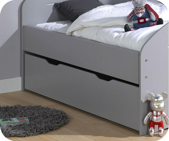 lit enfant volutif spoom gris tiksy vente lit enfant transformable. Black Bedroom Furniture Sets. Home Design Ideas