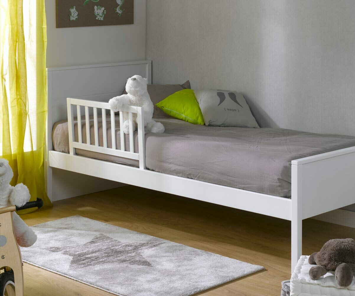 Petite barri re de lit enfant l once 70x40 cm en pin massif facile installer - Barriere protection lit enfant ...