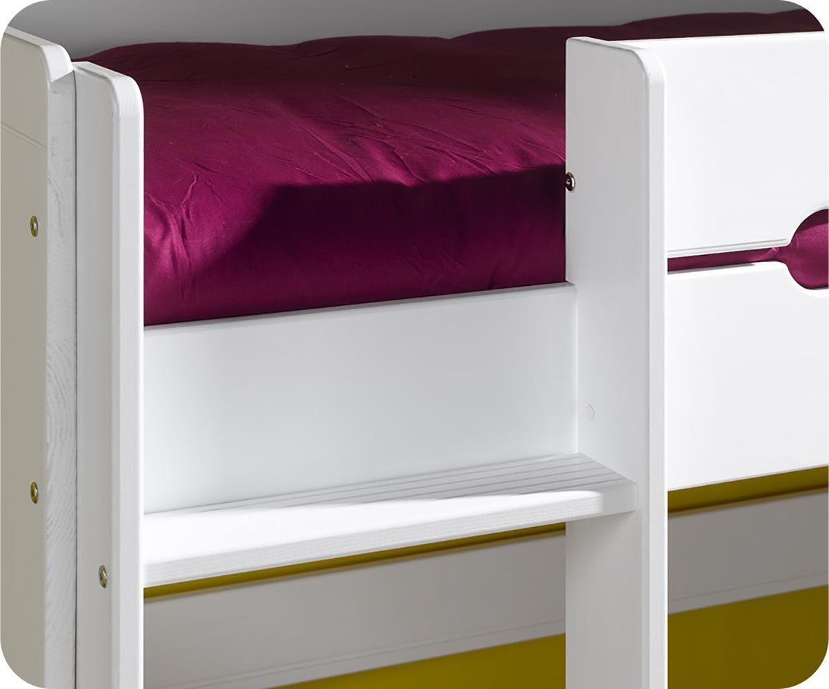 lit superpos spark blanc 90x200 cm avec sommier gigogne blanc. Black Bedroom Furniture Sets. Home Design Ideas