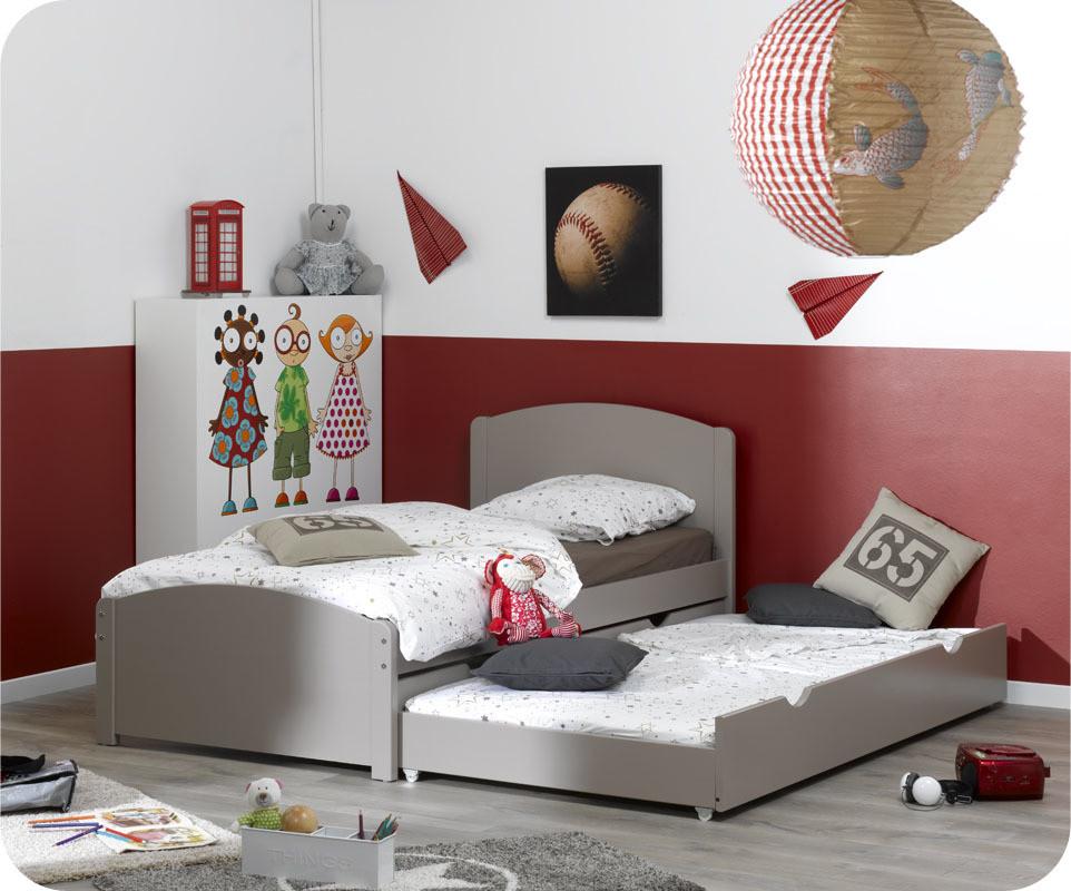 pack lit enfant nature lin 90x200 cm. Black Bedroom Furniture Sets. Home Design Ideas