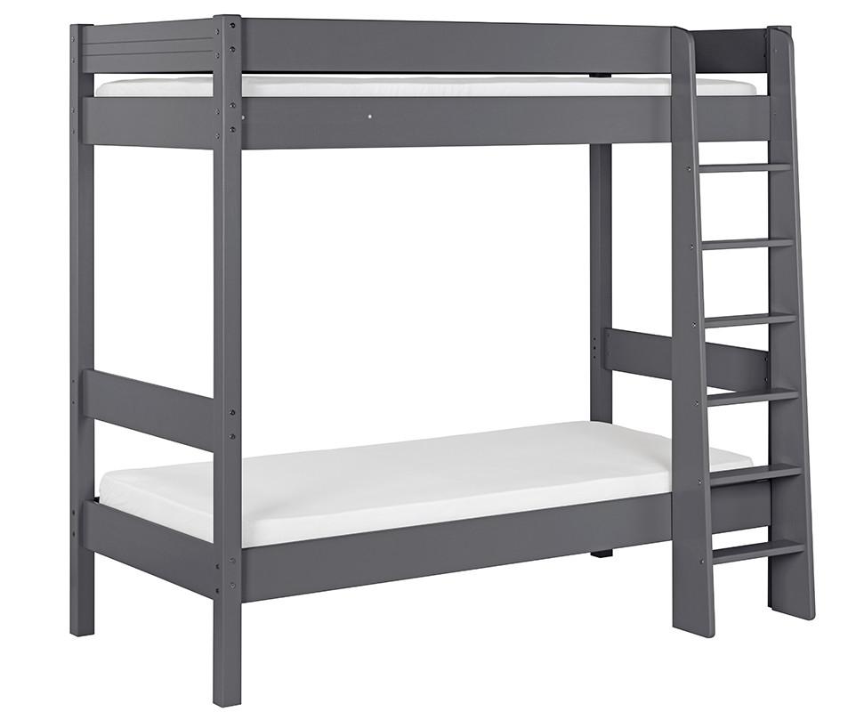 lit superpos enfant clay gris anthracite 90x190 cm avec matelas. Black Bedroom Furniture Sets. Home Design Ideas