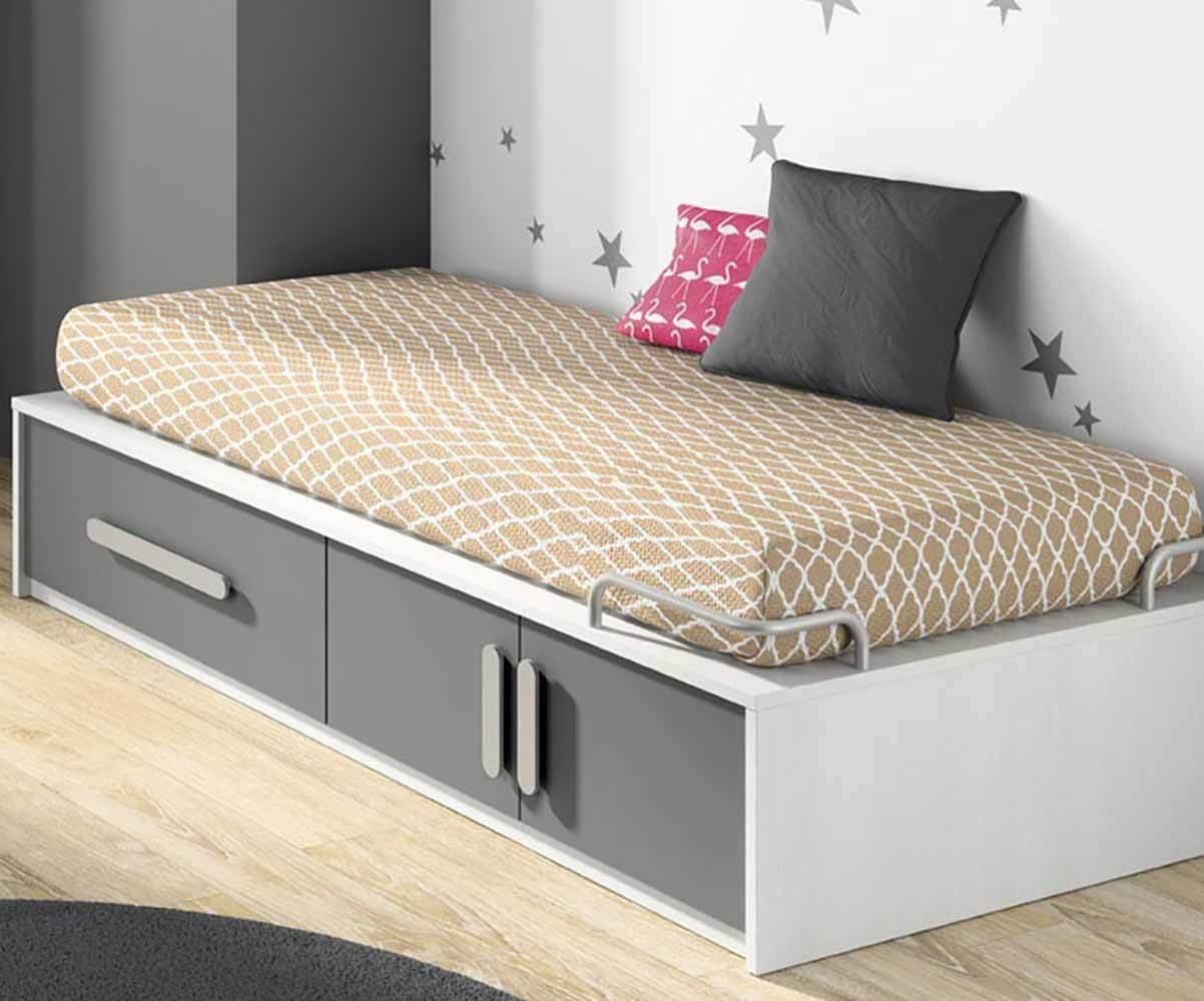 lit enfant planet blanc et gris anthracite avec matelas. Black Bedroom Furniture Sets. Home Design Ideas