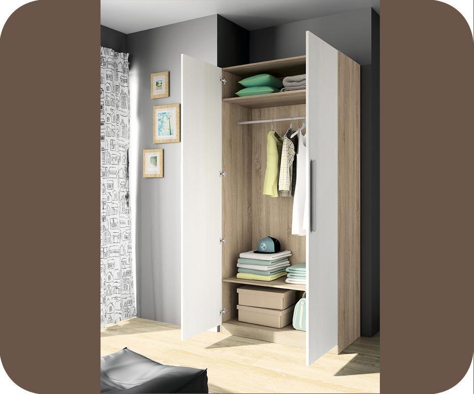 armoire enfant planet blanche et ch ne. Black Bedroom Furniture Sets. Home Design Ideas