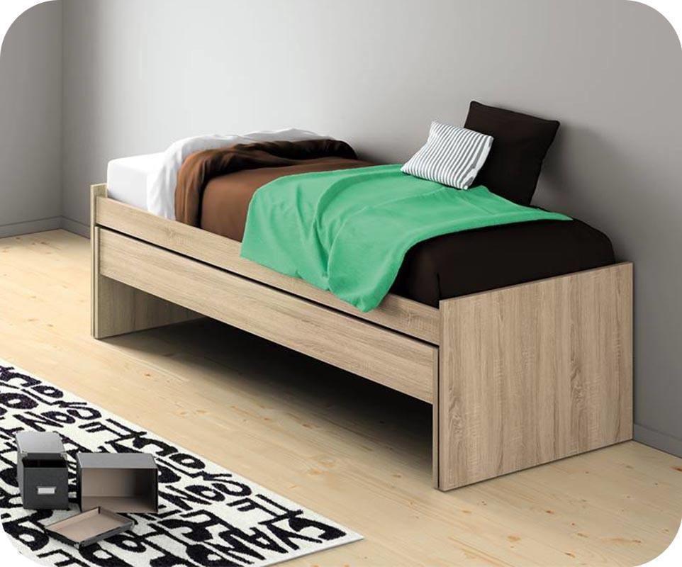 lit enfant gigogne planet ch ne avec matelas. Black Bedroom Furniture Sets. Home Design Ideas
