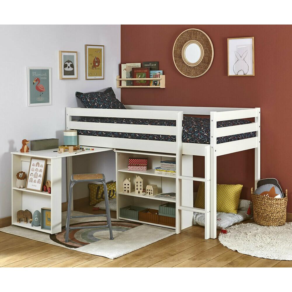 lit mi hauteur enfant pas cher achat mobilier en promo. Black Bedroom Furniture Sets. Home Design Ideas