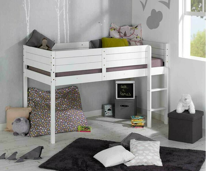 lit mi hauteur enfant pas cher achat mobilier en promo. Black Bedroom Furniture Sets. Home Design Ideas