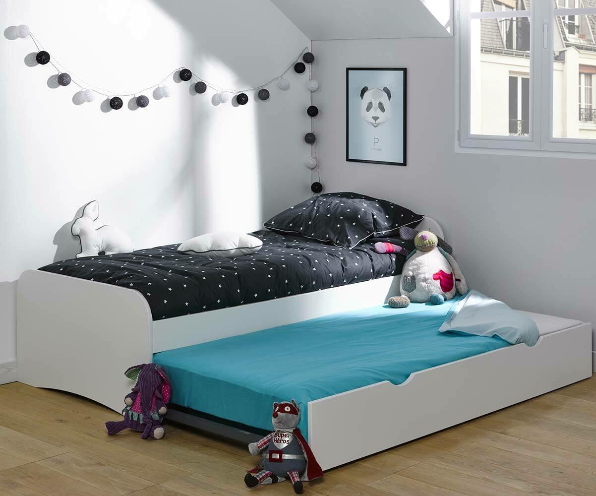 le pack lit enfant gigogne twist couchage 2en1 made in france. Black Bedroom Furniture Sets. Home Design Ideas