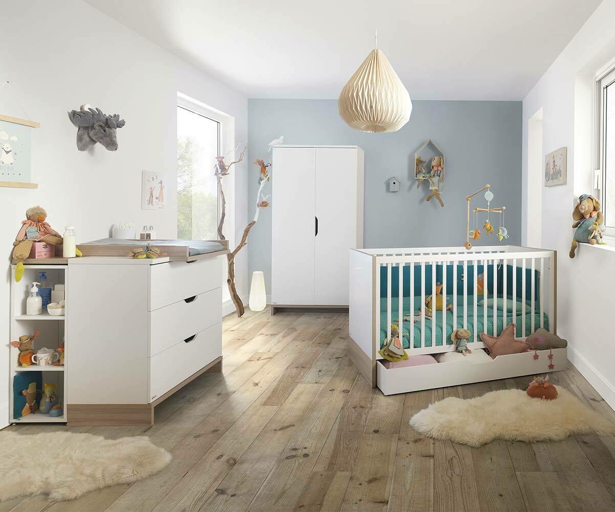 biblioth que blanche pour rangement chambre b b. Black Bedroom Furniture Sets. Home Design Ideas