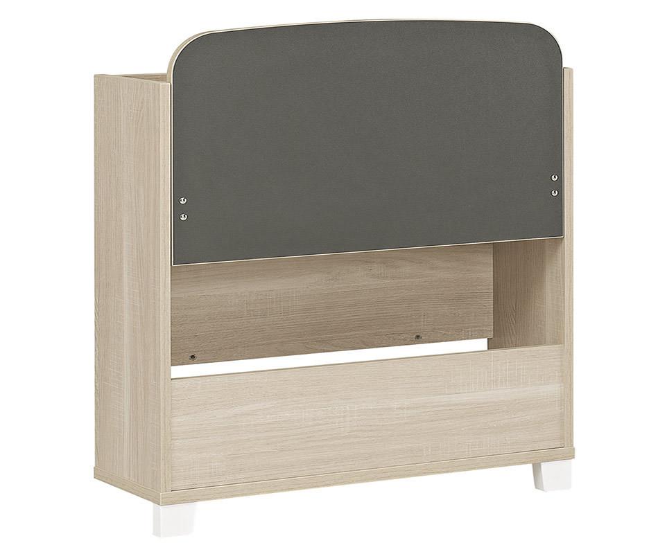 secr taire nola bois et blanc. Black Bedroom Furniture Sets. Home Design Ideas