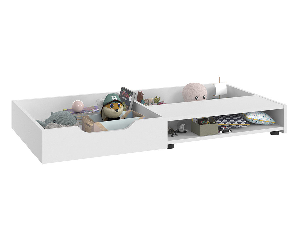 tiroir de lit b b volutif lili blanc. Black Bedroom Furniture Sets. Home Design Ideas