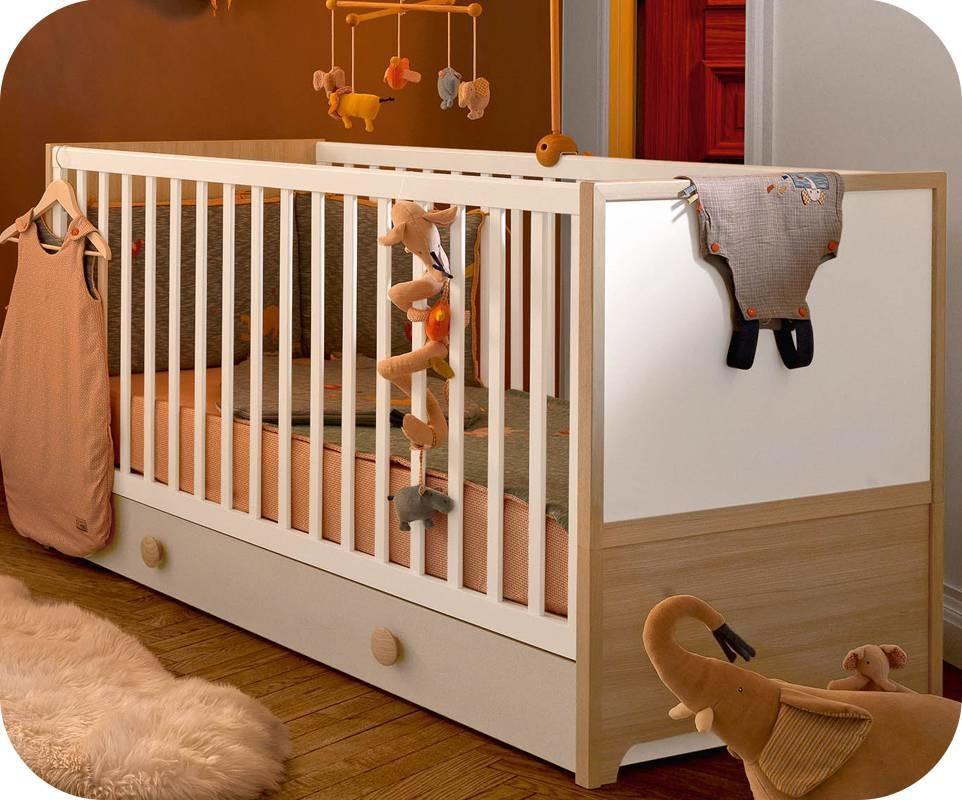 lit b b volutif ol bois et blanc. Black Bedroom Furniture Sets. Home Design Ideas