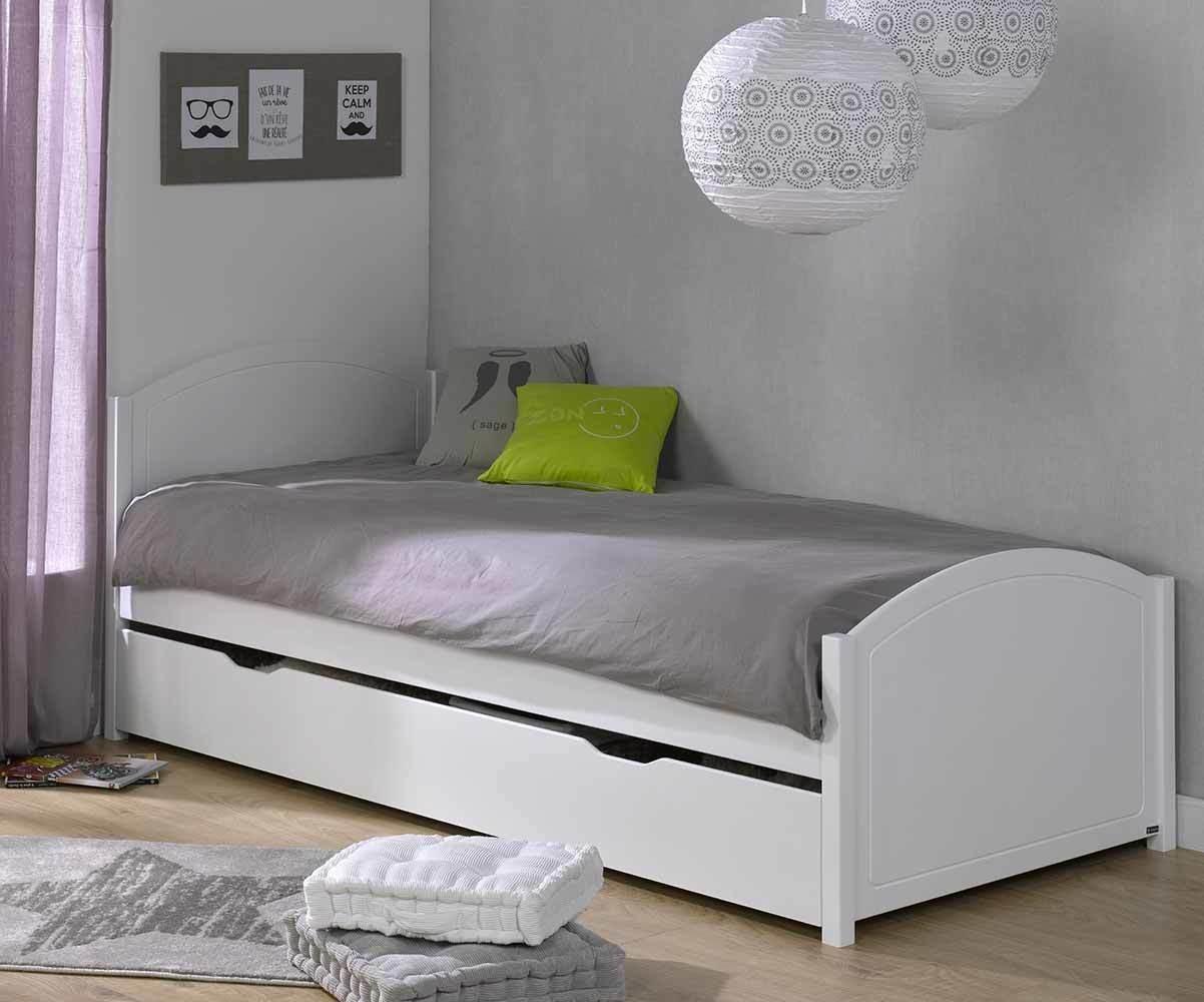 lit ado gigogne pac me blanc 90x200 cm. Black Bedroom Furniture Sets. Home Design Ideas
