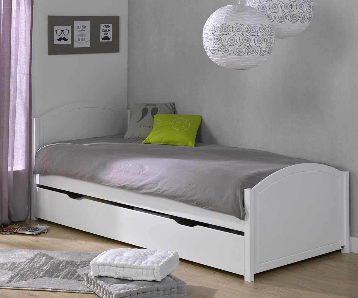 pack lit ado gigogne pac me blanc 90x200 cm. Black Bedroom Furniture Sets. Home Design Ideas