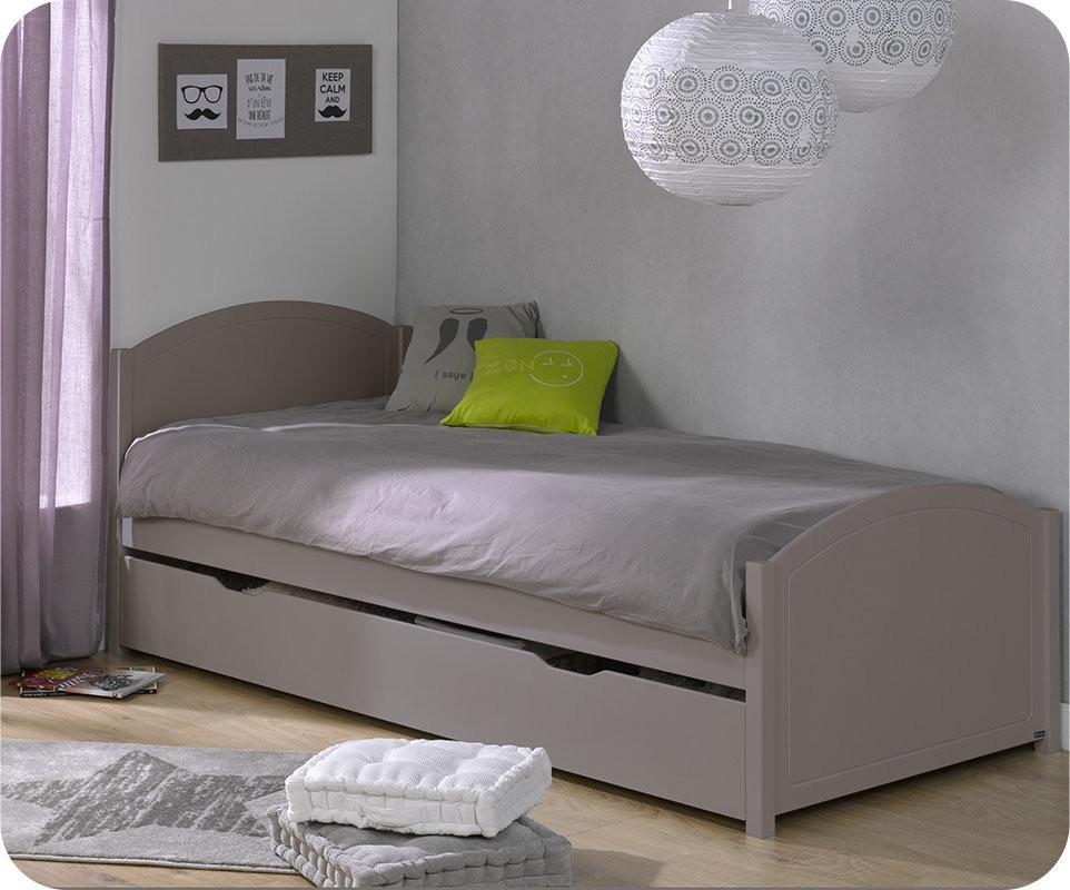pack lit ado gigogne pac me lin 90x200 cm. Black Bedroom Furniture Sets. Home Design Ideas