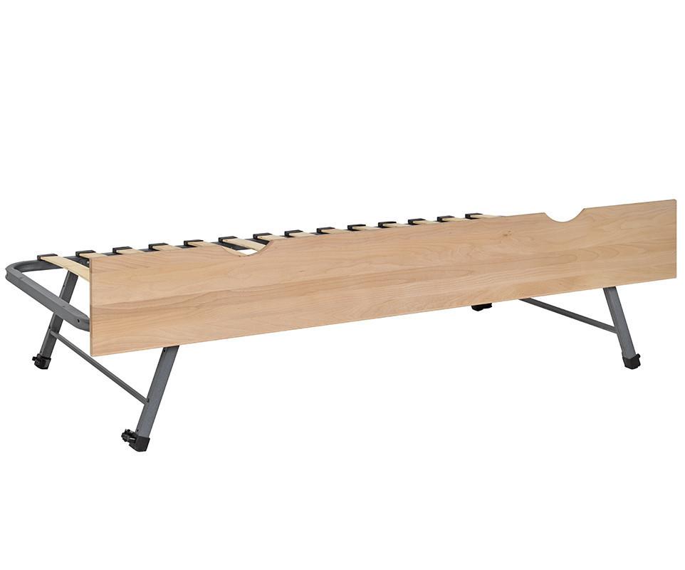 sommier gigogne 90x190cm avec fa ade en bois massif h tre. Black Bedroom Furniture Sets. Home Design Ideas