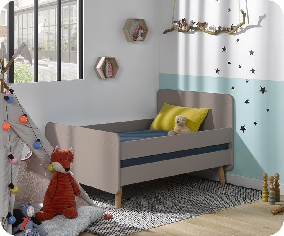 pack lit enfant volutif willow lin avec pieds et matelas. Black Bedroom Furniture Sets. Home Design Ideas