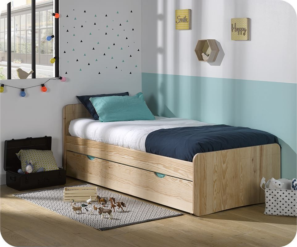 lit enfant willow brut peindre 90x190 cm avec sommier et matelas. Black Bedroom Furniture Sets. Home Design Ideas