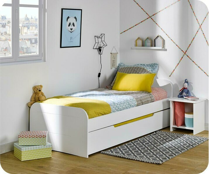Lit Enfant Gigogne Sleep'In Blanc 90x200 cm
