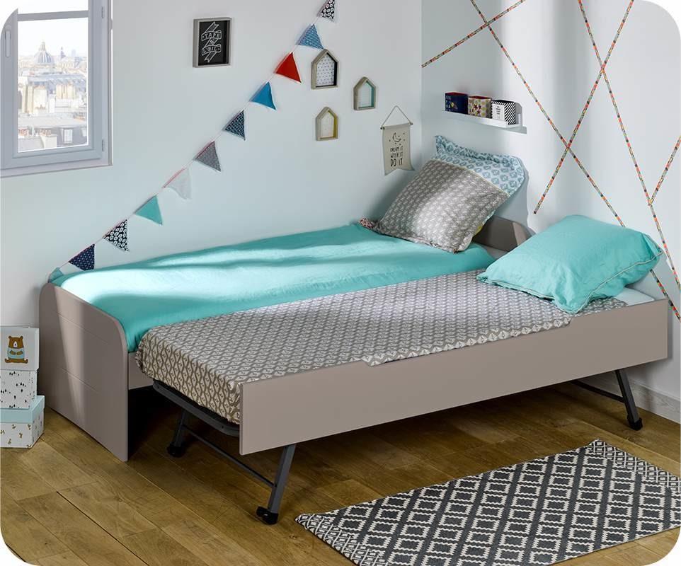 lit enfant gigogne sleep 39 in lin 90x200 cm. Black Bedroom Furniture Sets. Home Design Ideas