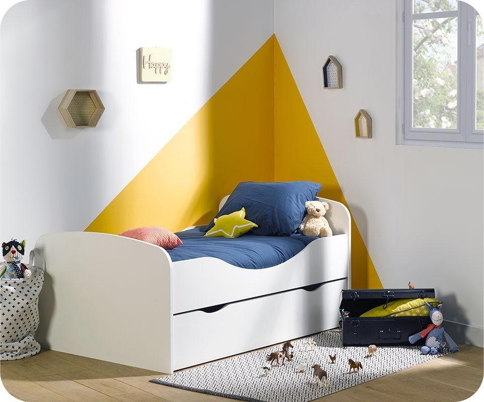 pack lit enfant evolutif oaki avec tiroir et matelas
