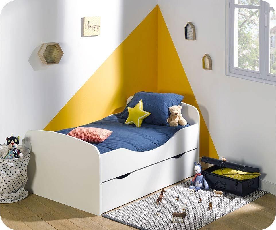 pack lit enfant evolutif oaki avec tiroir et matelas. Black Bedroom Furniture Sets. Home Design Ideas