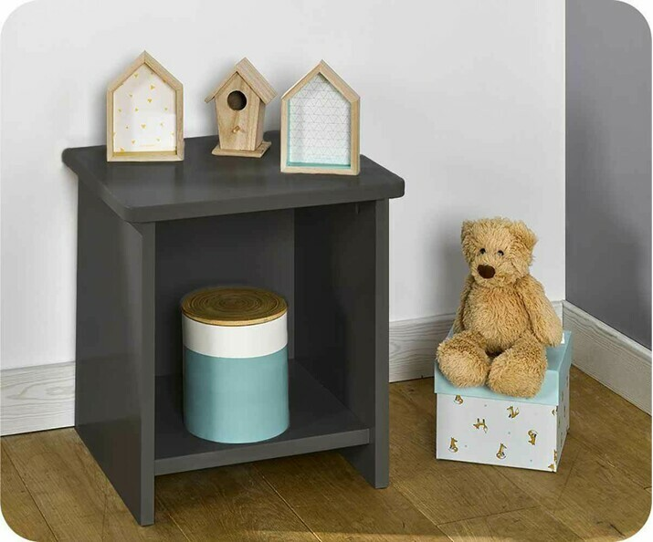 Chevet enfant Twist Gris anthracite
