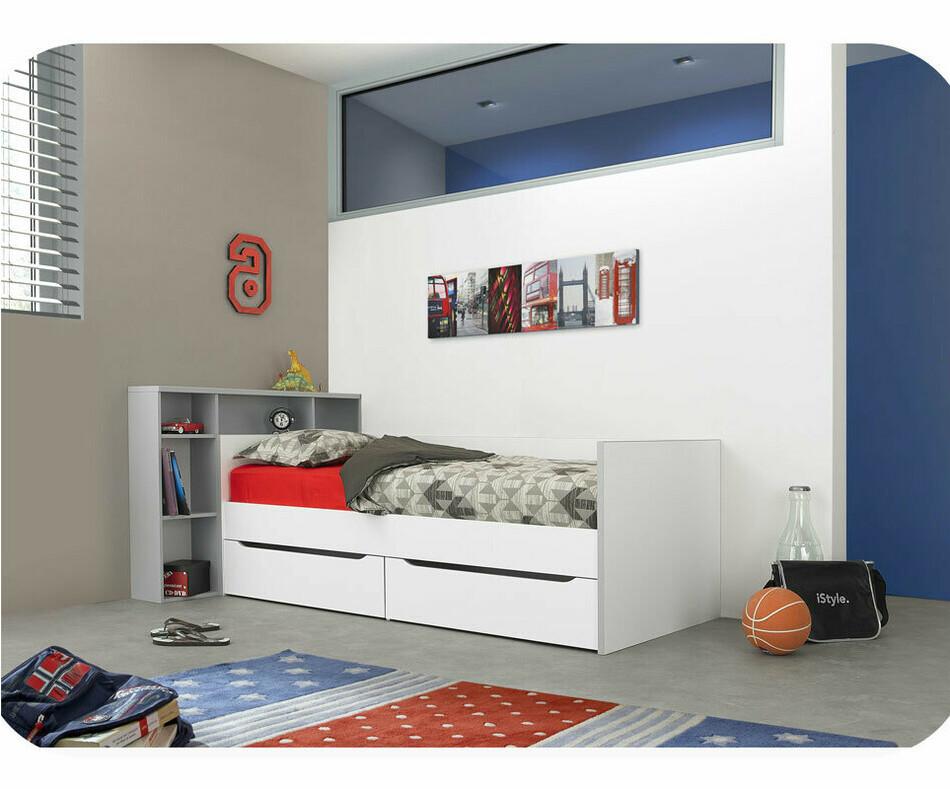 t te de lit enfant tim o grise. Black Bedroom Furniture Sets. Home Design Ideas