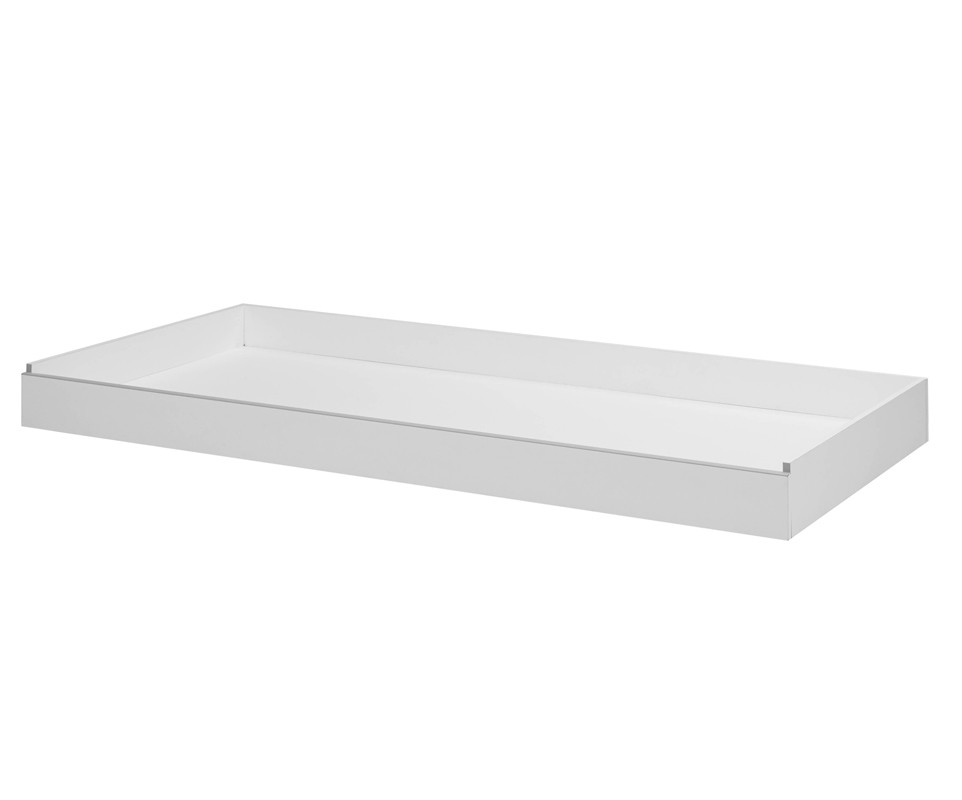 tiroir de lit enfant tim o blanc et gris 90x200 cm. Black Bedroom Furniture Sets. Home Design Ideas