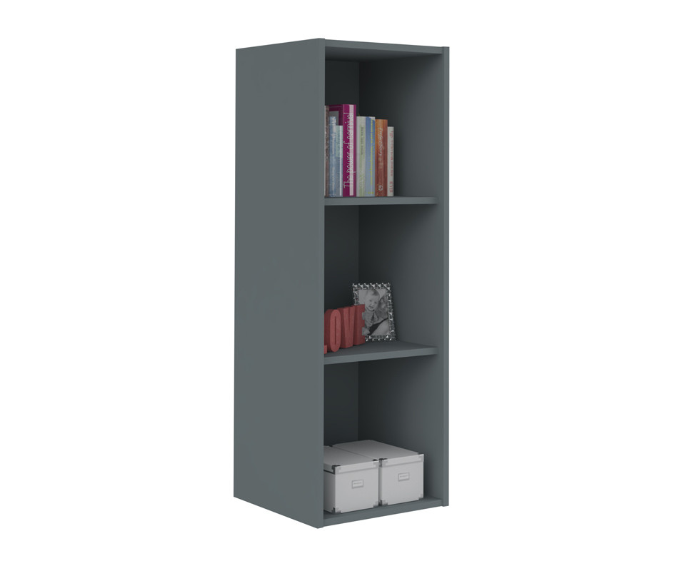meuble de rangements moov 3 cases gris anthracite. Black Bedroom Furniture Sets. Home Design Ideas