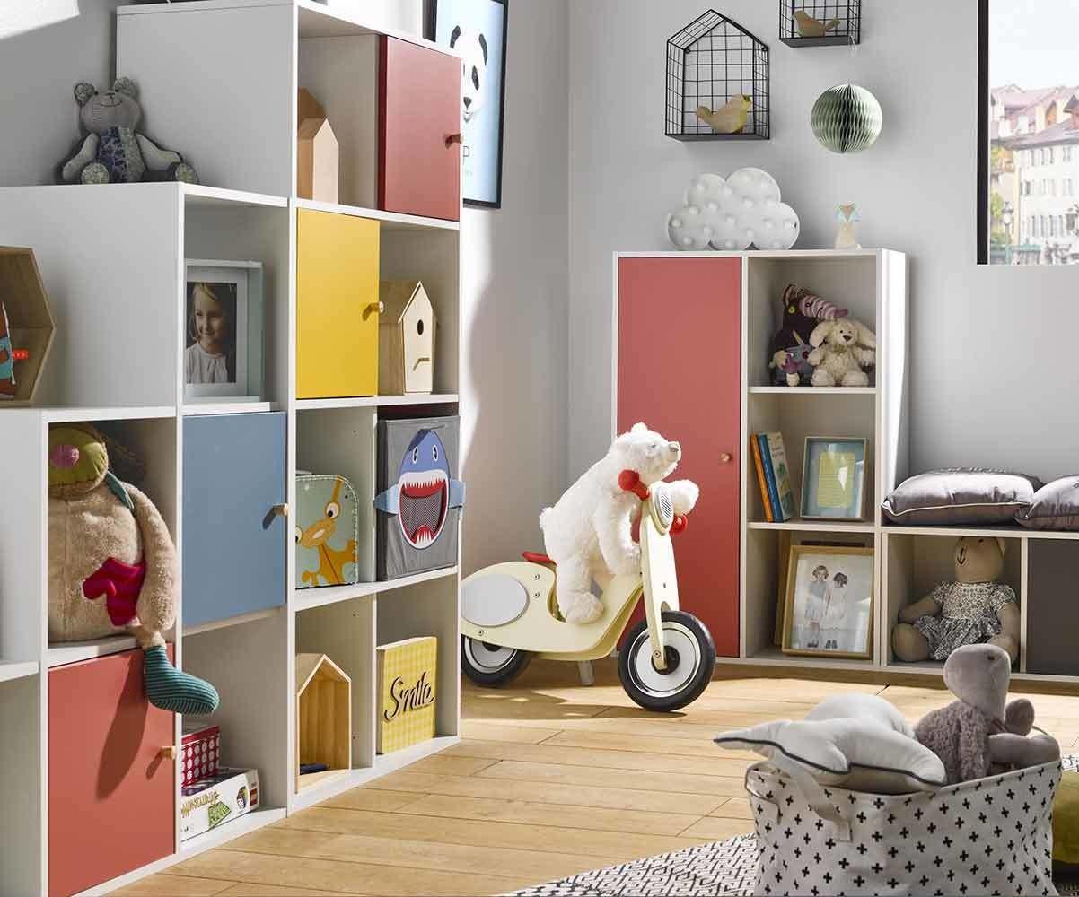 Meuble de rangement Moov 6 cases pour enfant et adolescent