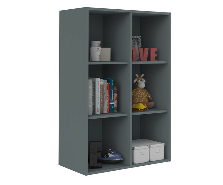 Meuble de Rangements Moov 6 Cases Gris Anthracite