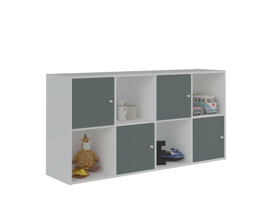 meuble de rangements moov 8 cases blanches. Black Bedroom Furniture Sets. Home Design Ideas