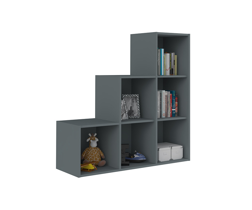 meuble de rangement moov escalier gris anthracite. Black Bedroom Furniture Sets. Home Design Ideas