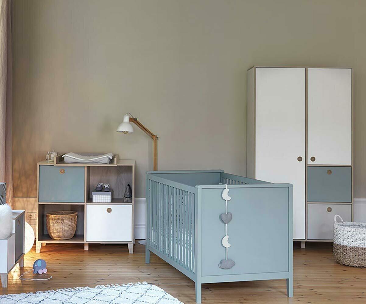 Chambre b b compl te perle bleu aqua for Une chambre complete