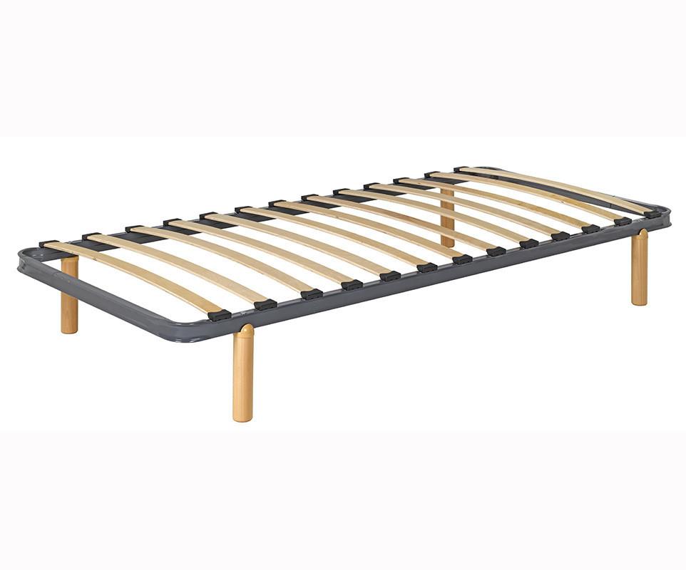 pack sommier feel air avec pieds en bois massif. Black Bedroom Furniture Sets. Home Design Ideas