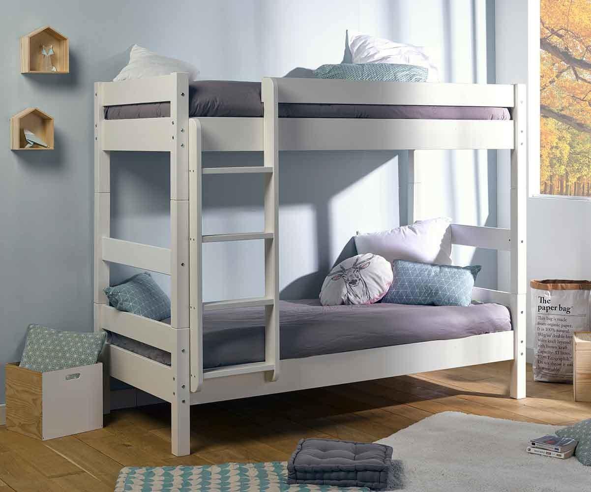 pack lit enfant superpos wood avec matelas couchage int gral. Black Bedroom Furniture Sets. Home Design Ideas