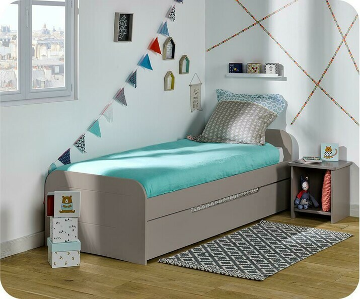 Lit Enfant Gigogne Sleep'In Lin 90x190 cm
