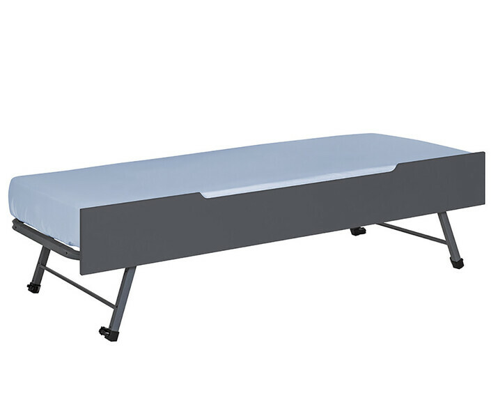 Sommier Gigogne Sleep'In gris anthracite avec matelas en option