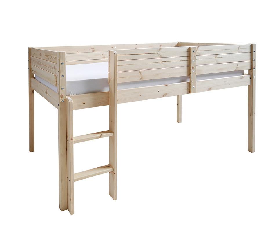 lit enfant mi hauteur tamis brut peindre 90x190 cm. Black Bedroom Furniture Sets. Home Design Ideas