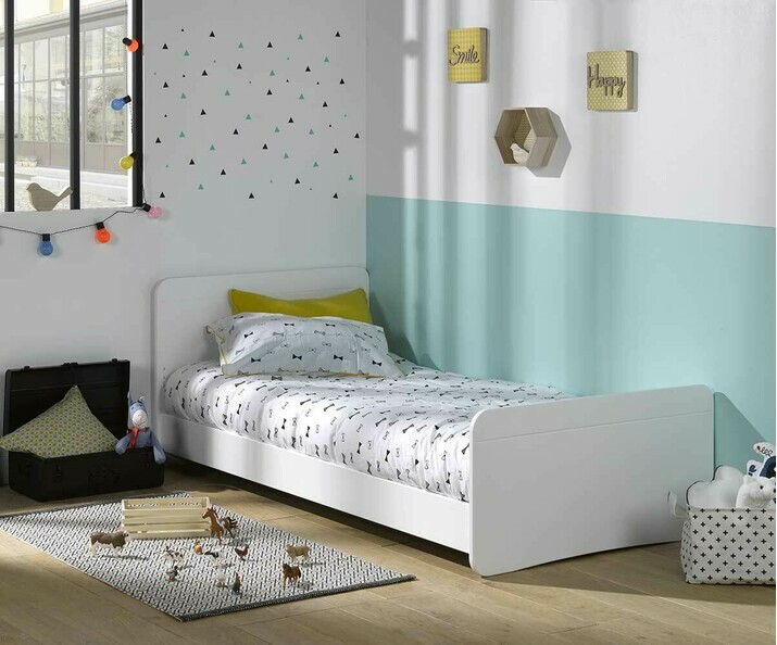 Lit enfant willow blanc couchage bas